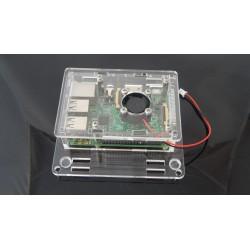 Obudowa do Raspberry Pi model 2/B+ , VESA, versja 2 trans+ wentylator