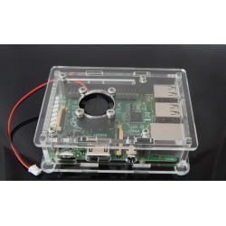 Obudowa do Raspberry Pi model 3/2/B+ , box, v 2 trans+ wentylator