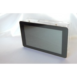 """Obudowa do Raspberry Pi modelu B+/2/ plus ekran dotykowy 7"""" BOX - przezriczysta"""