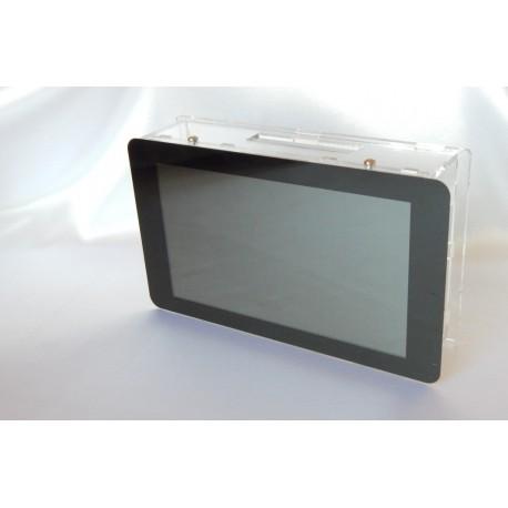 """Obudowa do Raspberry Pi modelu B+/2/ plus ekran dotykowy 7"""" BOX - czarna"""
