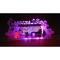 Statuetka z akrylu - podświetlana akryl 3mm, na 18.