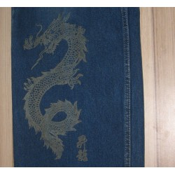 Grawerowanie materiał jeansu