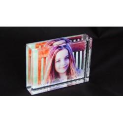 Foto kryształ  z nadrukiem 8x6cm