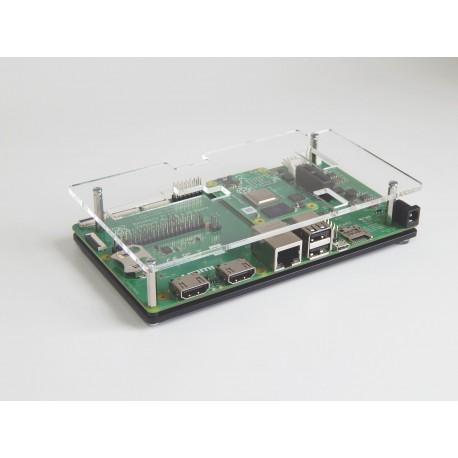 Obudowa do Raspberry Pi CM4IO czarno-przezroczysta