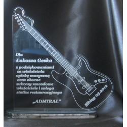 Statuetka z akrylu  Gitara