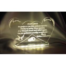 Statuetka z akrylu - podświetlana akryl 3mm.