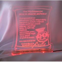 Statuetka z akrylu - podświetlana - ramka