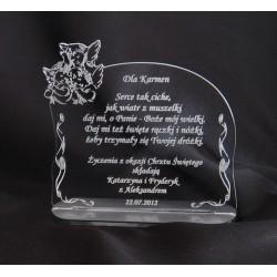 Statuetka z akrylu - na chrzest