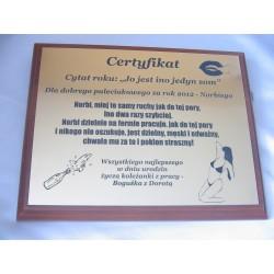 Certyfikat, pamiątka - 225x175