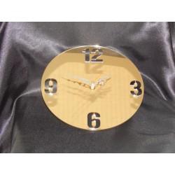 Zegar ścienny pleksi złote lustro