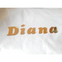 Cyfry i litery z pleksi złotej lustro