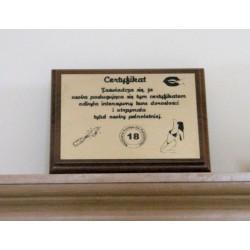Certyfikat, pamiątka - Mały