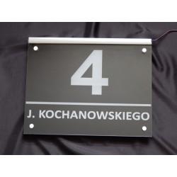 Tablica z numerem domu