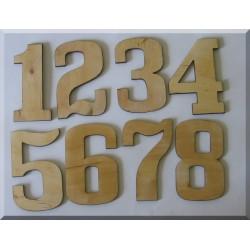 Cyfry ze sklejki