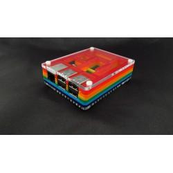 Obudowa Raspberry Pi B+ i ekran PiTFT - przezroczysta